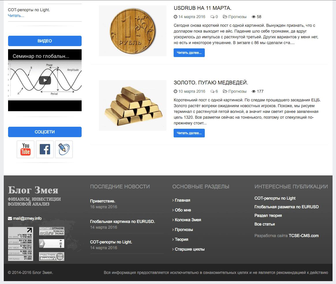 Блог Змея - финансы, инвестиции, волновой анализ